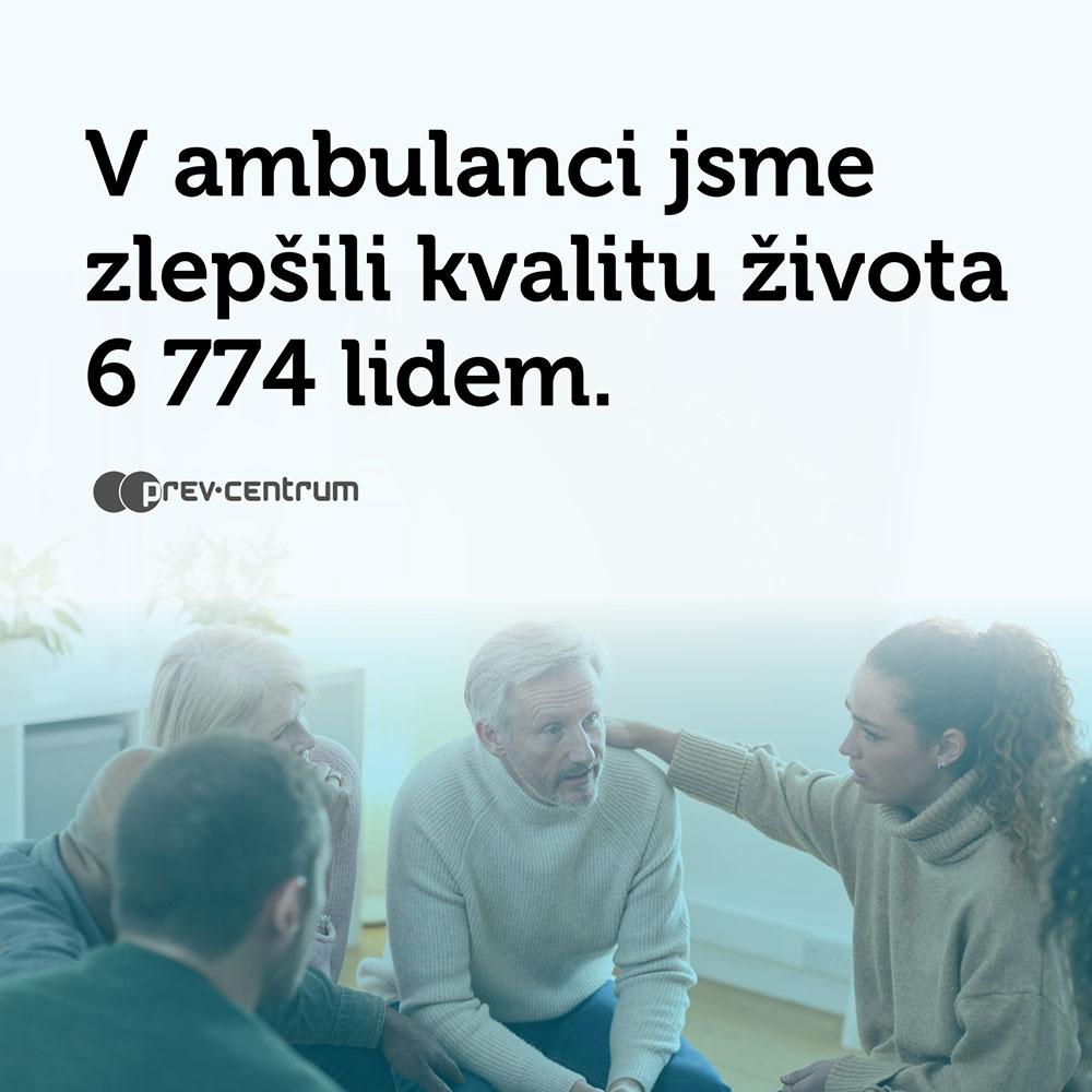 V ambulanci jsme zlepšili kvalitu života 6 774 lidem.